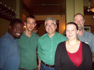 De gauche à droite: Dwain Richardson, Jean-François Melançon, François Lavallée, Jude Des Chênes, Mélodie Benoit-Lamarre