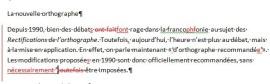 La révision effectuée exclusivement en français (ou autre langue). Ici, la révision a été effectuée à l'aide du suivi des modifications dans Word.