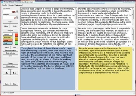 Voici à quoi ressemble une révision bilingue ou multilingue. Le réviseur travaille avec le texte source et le texte cible.